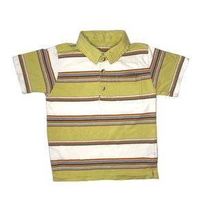Boys Striped Polo Short Sleeve Shirt Top 3T